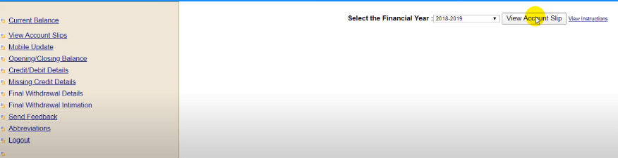 select the financial year