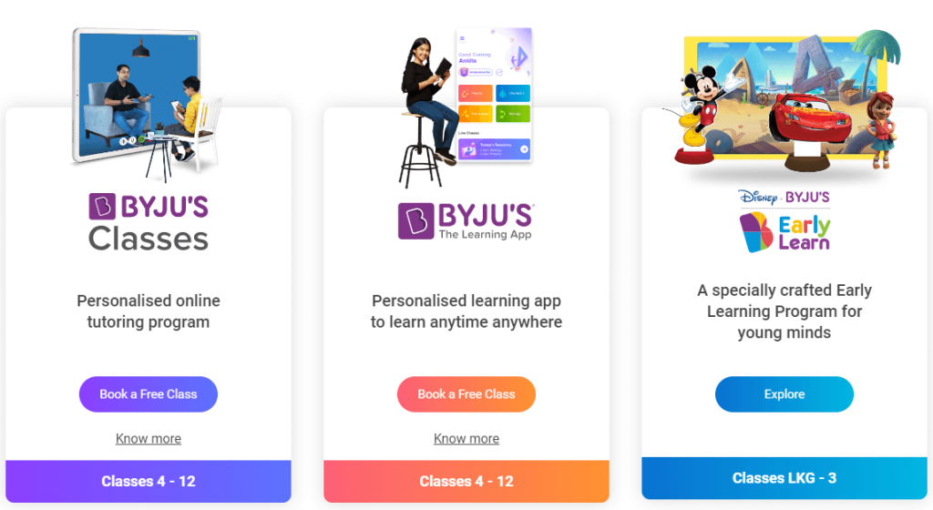 Byjus Learning Programs