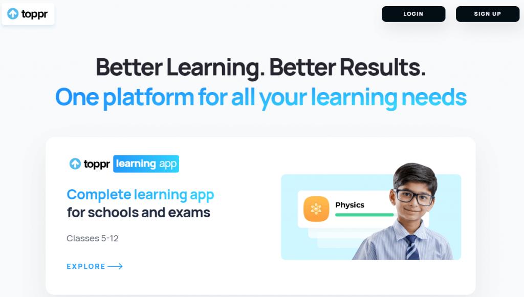 Toppr learning app